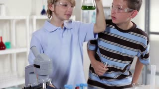 young chemistry students