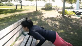 young woman hurts her shoulder doing pushups sister checks on her 4k
