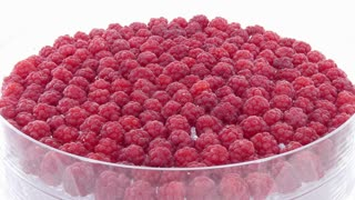 Time-lapse of drying raspberry in dehydration machine 1a2, 4K format