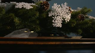 Christmas tree and decoration with piano.