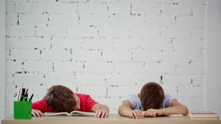 Pupils sleep in class