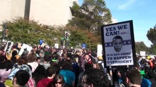 A Barack Obama poster at the Jon Stewart rally in Washington DC.