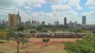 A good wide shot of the city of Nairobi, Kenya.