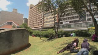 A memorial site in nairobi honors the terrorist bombings on the U.S. embassy of 1998.