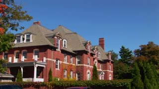 A red brick mansion in Bar Harbor, Maine.