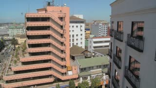 A view over modern Nairobi office buildings and offices.