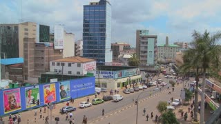 wide angle view busy design office. subscription library busy street scene in nairobi kenya wide angle view design office