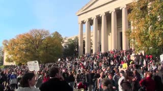 Huge crowds at the Jon Stewart Stephen Colbert rally in Washington D.C.