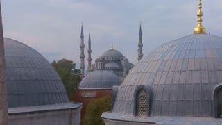Mosques of Istanbul line up.