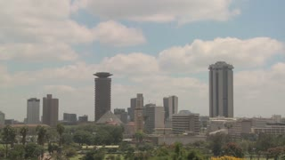 Nice time lapse shot of clouds over the city of Nairobi, Kenya.
