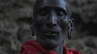 Old Masai warrior face.