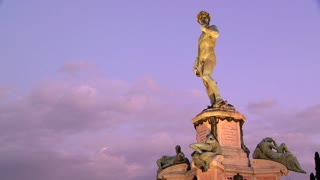 State of David at dusk in Florence, Italy.