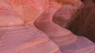 The beautiful colors of sandstone formations near Petra and Wadi Rum in the Saudi deserts of Jordan.