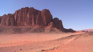 The beautiful desert landscapes of Wadi Rum, Jordan.
