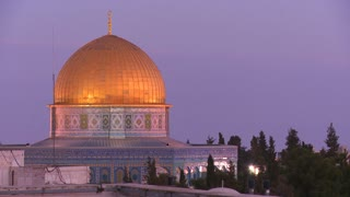 The Dome of the Rock as it towers over the Old City of Jerusalem.