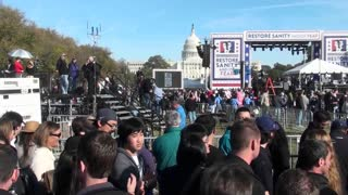 The Jon Stewart Stephen Colbert rally in Washington D.C.