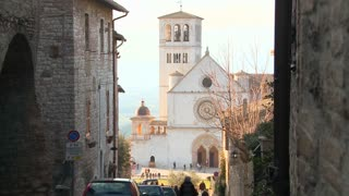 The main church in the town of Assisi Italy.