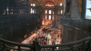 The spacious of the famouns of Hagia Sophia Mosque in Istanbul, Turkey.