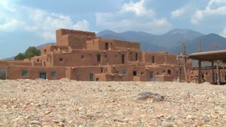 The Taos pueblo in New Mexico.