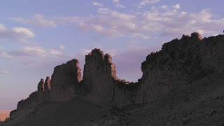 Time lapse of rocky outcroppings near Shiprock, New Mexico.