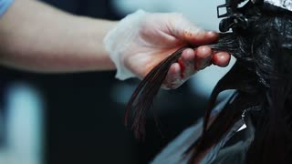 Professional hair color in the beauty studio.