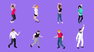 Dancing people video animation footage