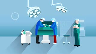Doctor and nurse scenes video animation footage