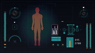 Human body scan footage