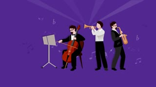 Musicians video animation footage