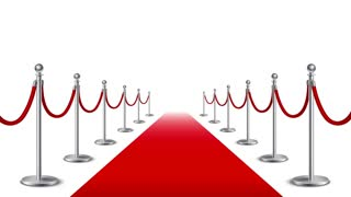 Red carpet realistic video footage