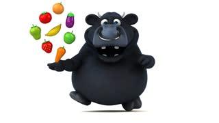 Fun black bull - 3D Animation