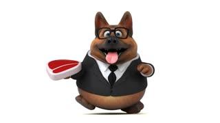 Fun german shepher dog - 3D Animation