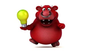 Fun red bull - 3D Animation
