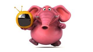 Pink elephant - 3D Animation