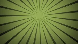 Abstract background green radial rays. Clockwise rotation. Green ray background. Modern fashion colour pattern. Slow motion movie