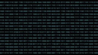Binary code backdrop background. Blue digit numbers 0 1 one zero runs semless. Good abstract background futuristic computer technology.