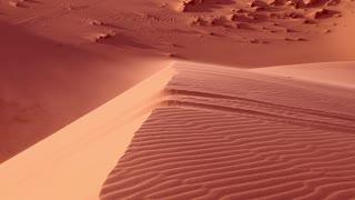 Red sand close up Sahara desert