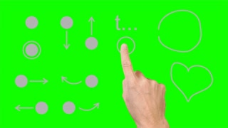 Set 1 of finger gestures for touchscreen. 1-12 from 37.