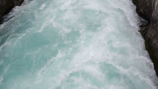 Powerful river current,  strong force,  New Zealand