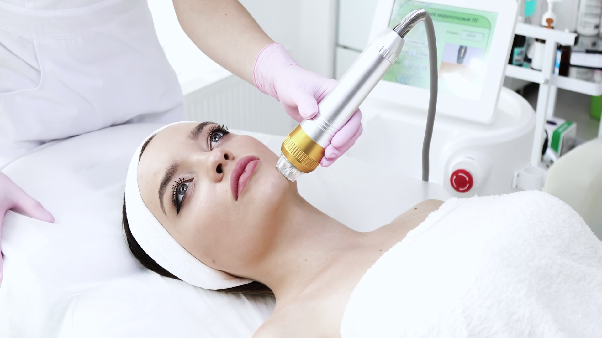 Beautys Woman Getting Microdermabrasion At Beauty Salon With Special Equipment Medical Sterile White Cabinet Woman Enjoying The Beauty Procedure Skin Care Cosmetology Healthy Beauty Stock Video Footage Storyblocks
