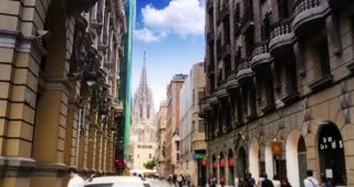 4K Barcelona Cathedral Establishing Shot