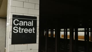 4K Canal Street Subway Platform