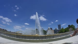 4K Fisheye View of The Point in Pittsburgh 4392