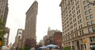4K Flatiron Building Establishing Shot