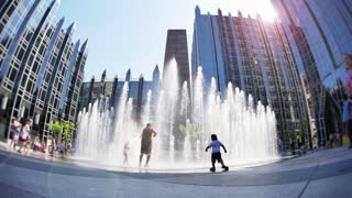 4K Kids at the Fountain at PPG Place in Pittsburgh
