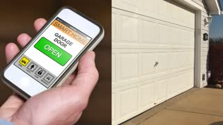 4K Open Garage Door with Smartphone App