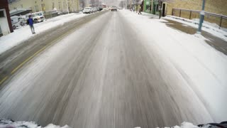 4K POV Driving in Winter