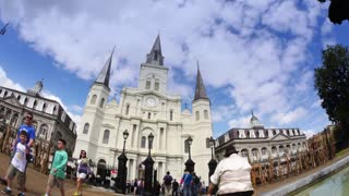 4K St Louis Cathedral Fisheye Timelapse 4015