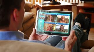4K Video Chat in Santa Hat