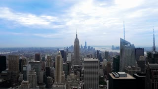 A 4K Ultra-HD resolution time lapse of the New York City skyline.